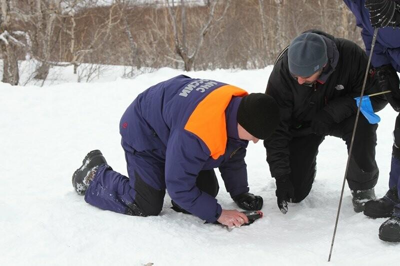 На Камчатке спасатели тренировались искать людей в снегу, фото-4