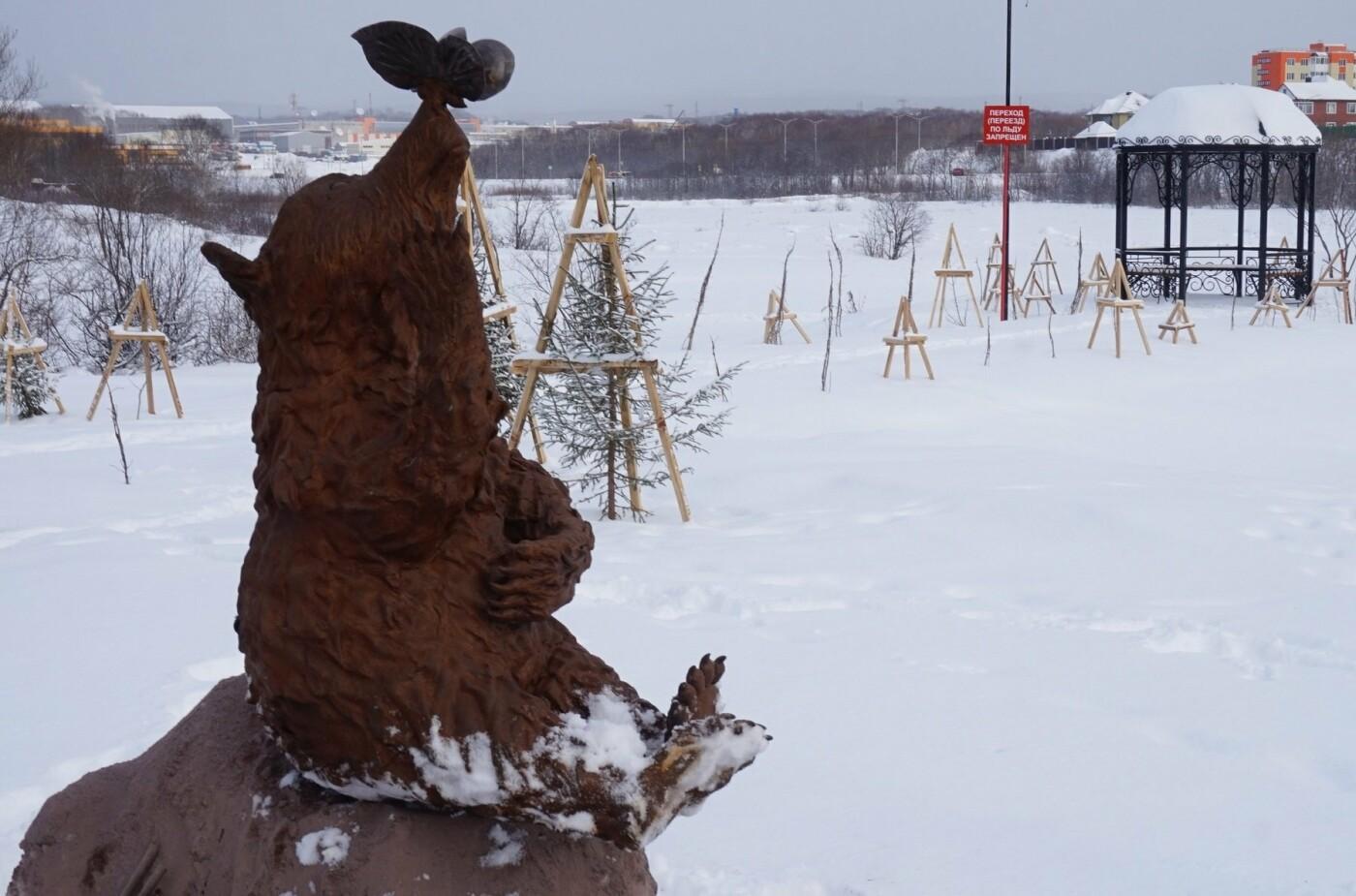 Косолапый арт-объект появился на Медвежке, фото-5