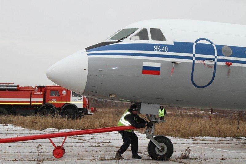 Камчатские спасатели тушили Як-40 в елизовском аэропорту - учения, фото-11